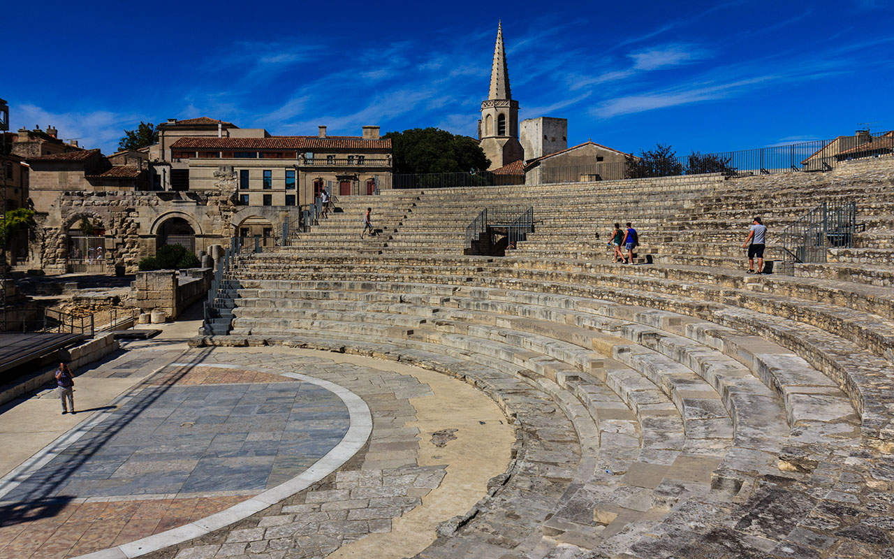 Graderío de postín. Teatro romano de Arles, 2013 ©Flivillegas