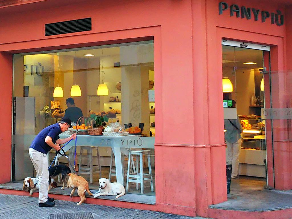 Pan con perros. Sevilla, 2015. Foto de móvil ©Flivillegas