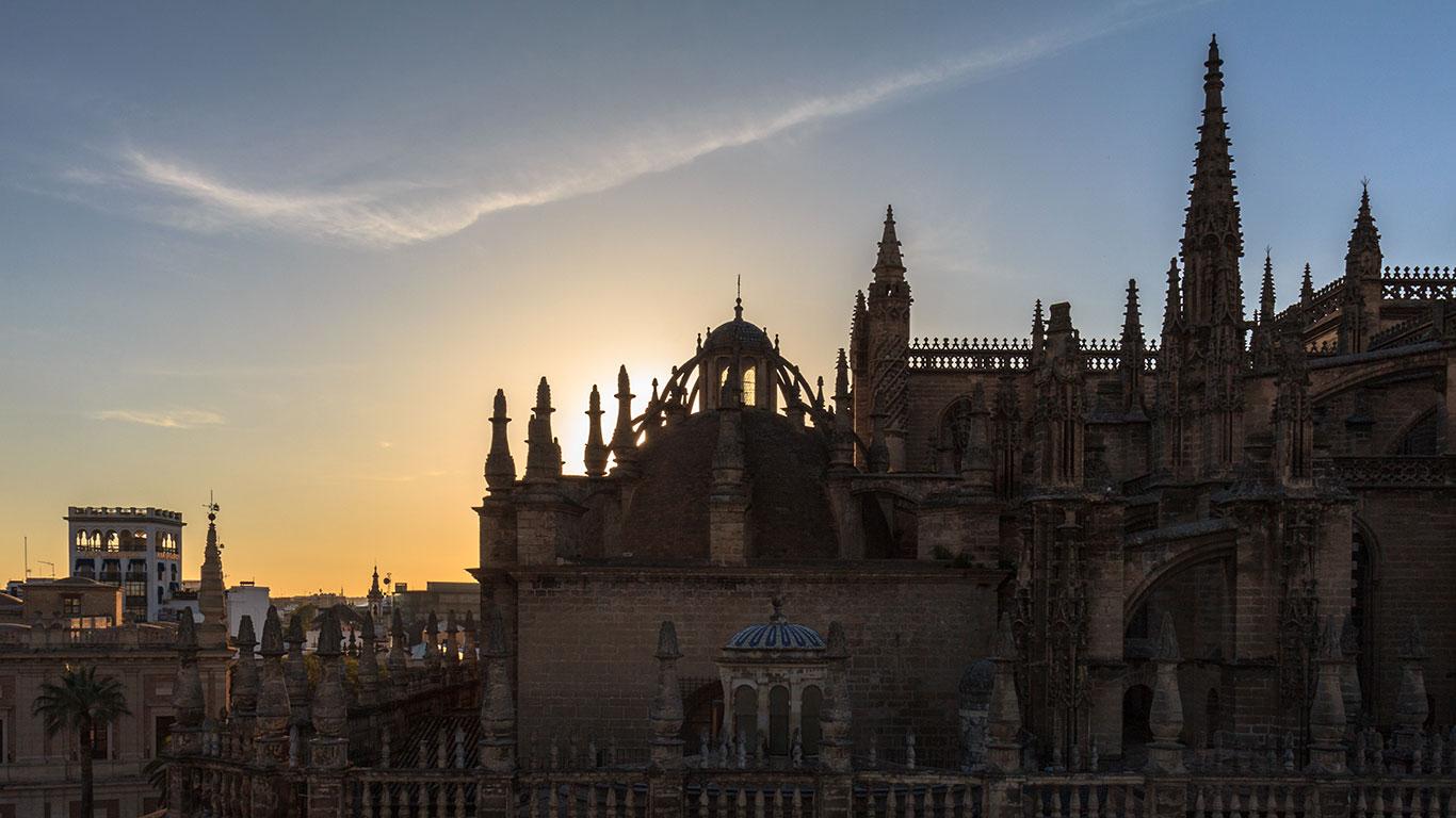 Atardecer en la Catedral de Sevilla