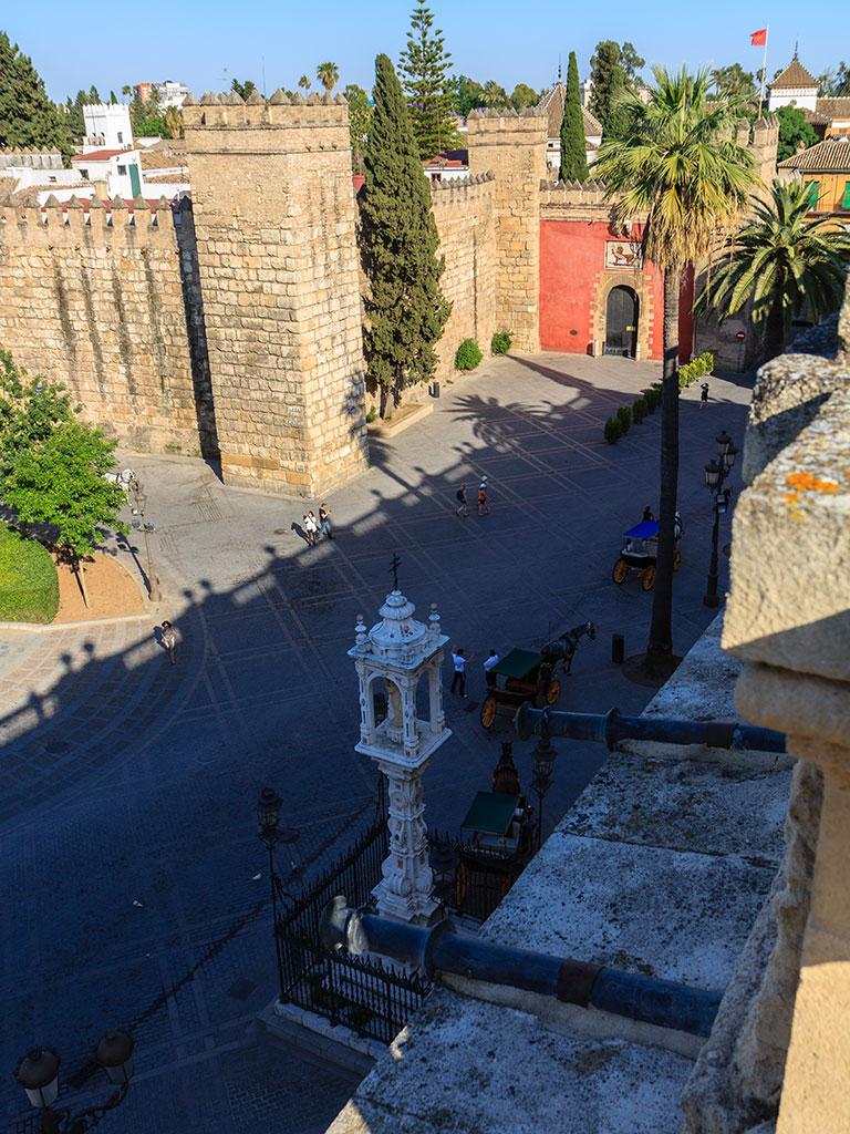Sombras en el Alcázar. Sevilla, 2012 ©Flivillegas