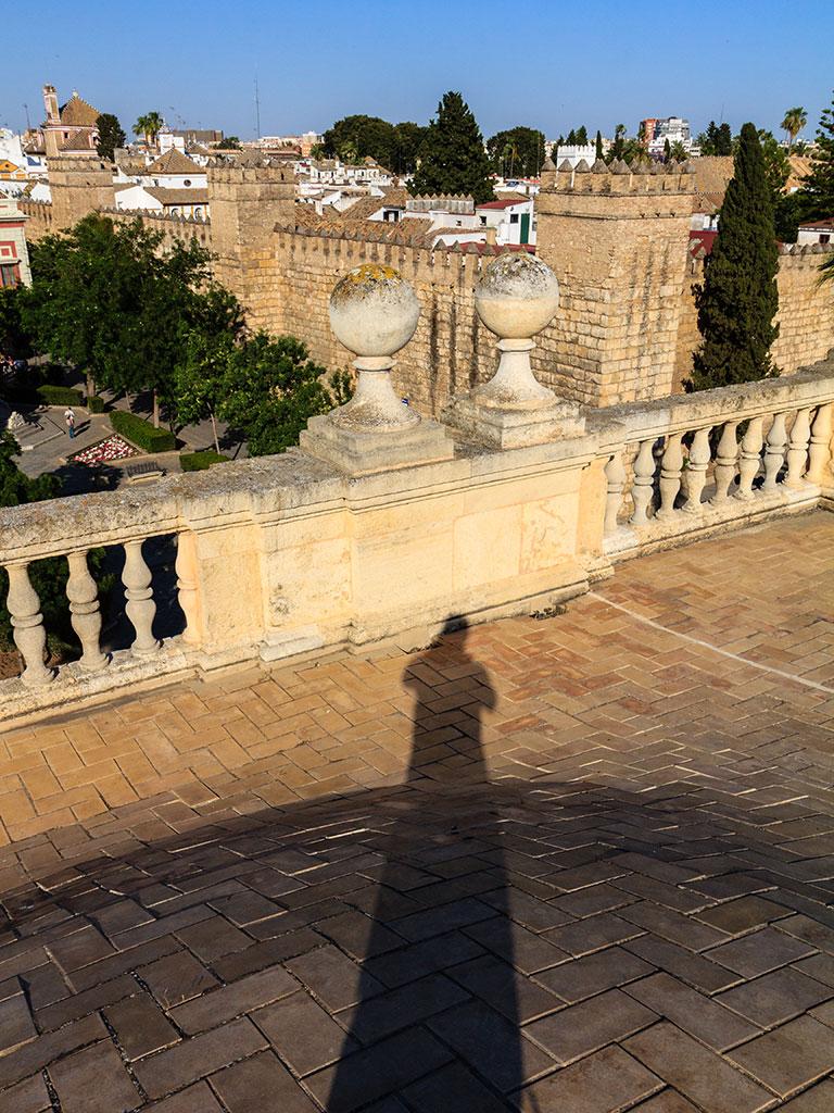 Real Alcázar desde el Archivo de Indias