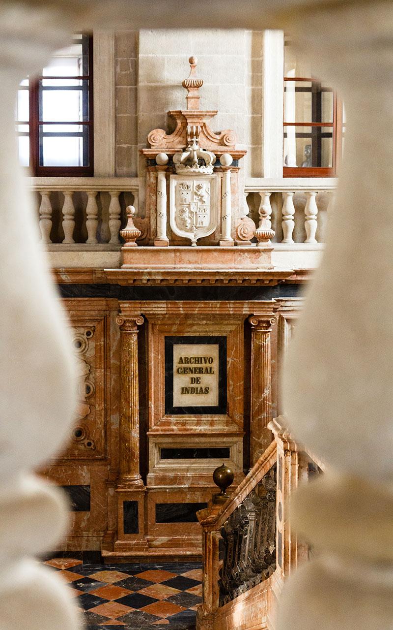 Interior del Archivo General de Indias