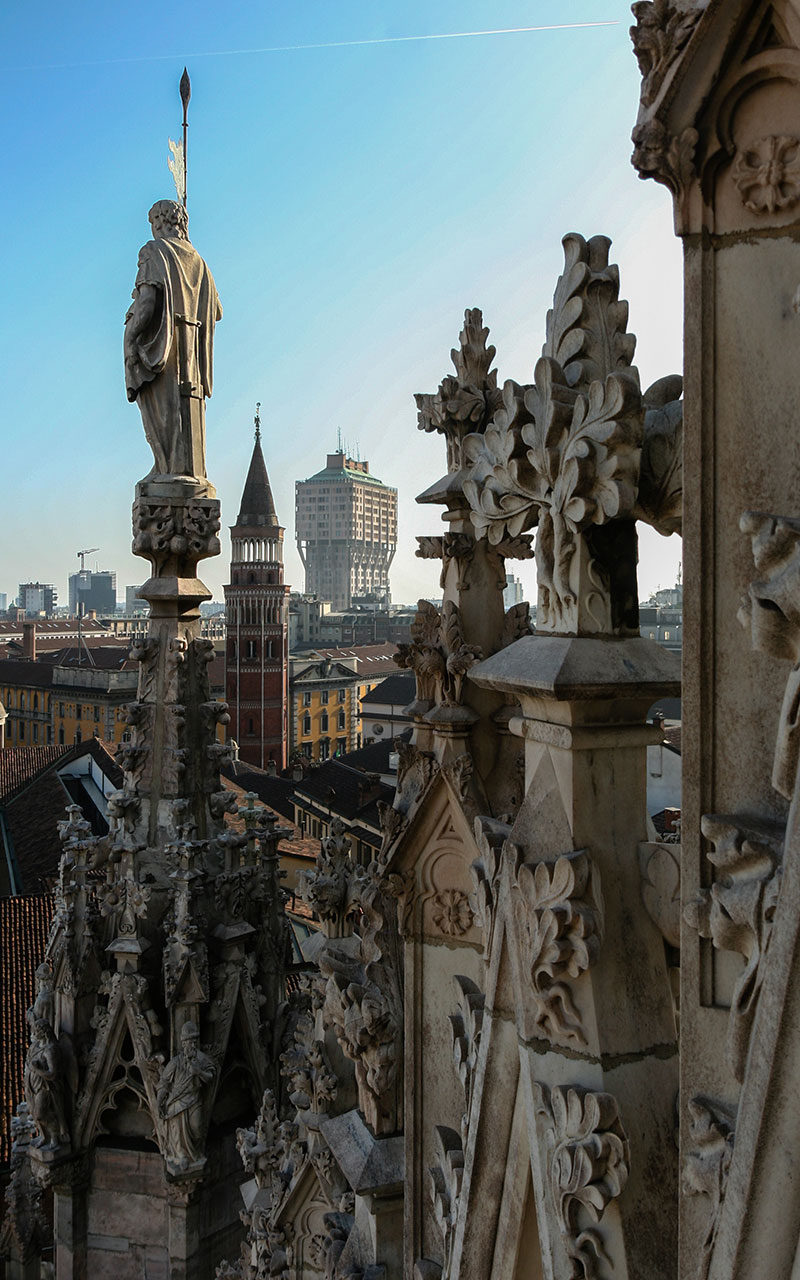 Vista aérea desde el Duomo