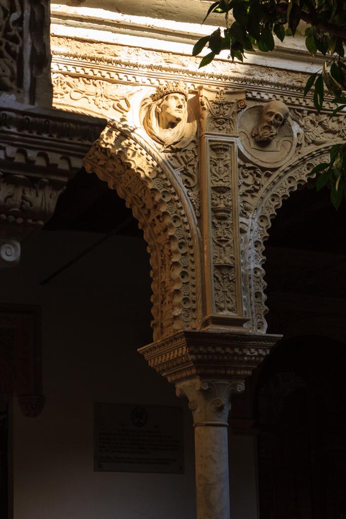 Detalle del patio de la Casa de los Pinelo