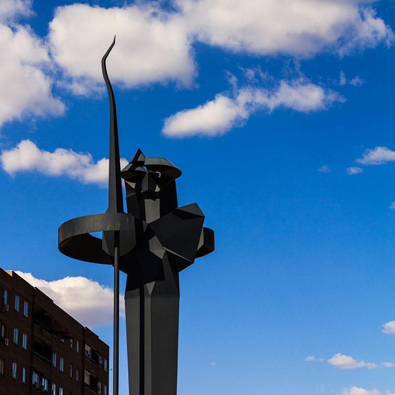 Escultura contemporánea de Don Quijote