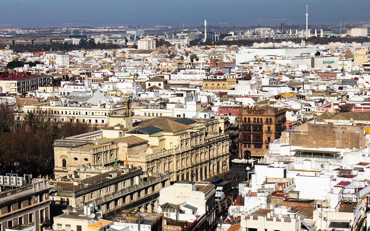 Ayuntamiento de Sevilla desde la Giralda