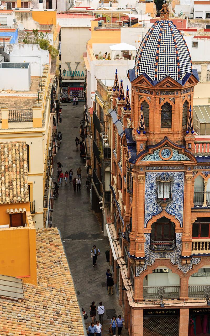 Calle Lineros desde arriba