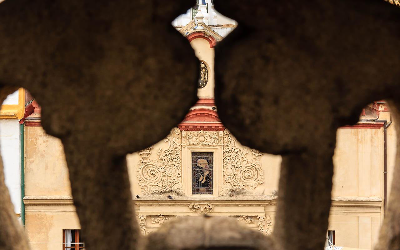 Detalle de la fachada de la Iglesia de San Juan de Dios