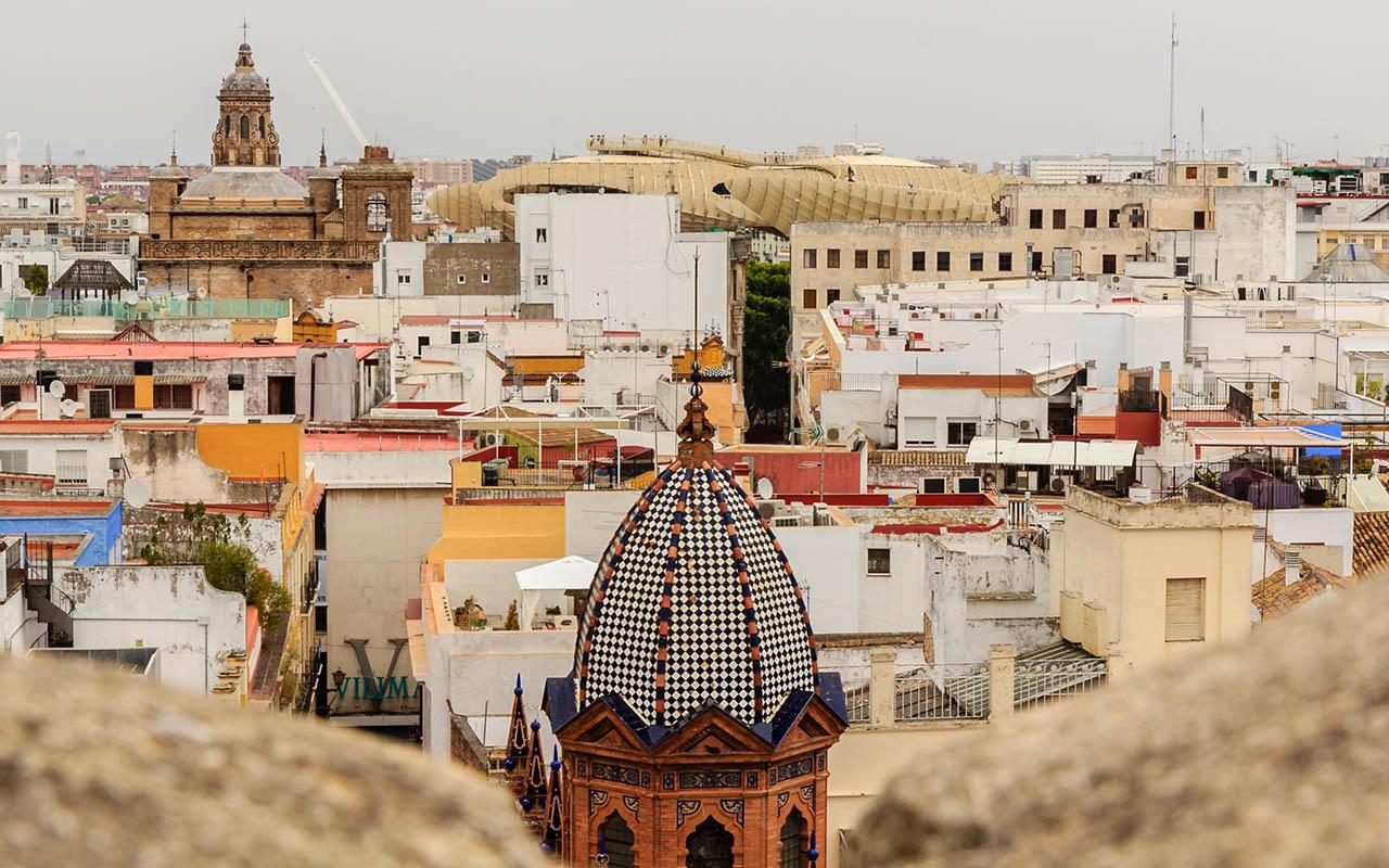 Vista aérea de Sevilla desde el Salvador