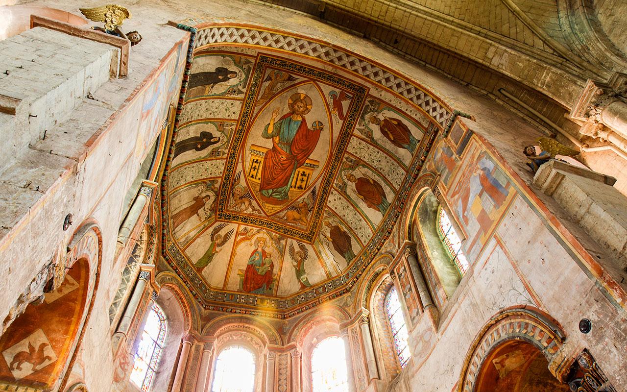 Pinturas en la Iglesia de Sainte Radegonde