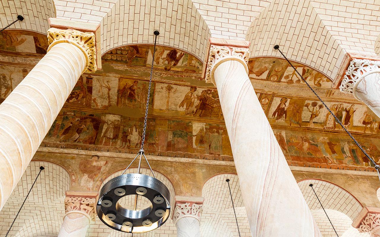 Abadía de Saint Savin en los alrededores de Poitiers