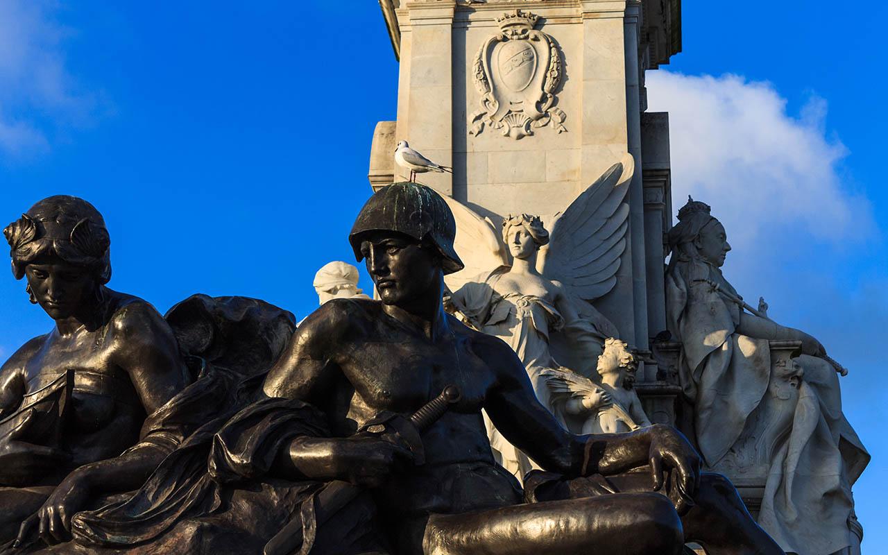 Fuente frente al Palacio de Buckingham