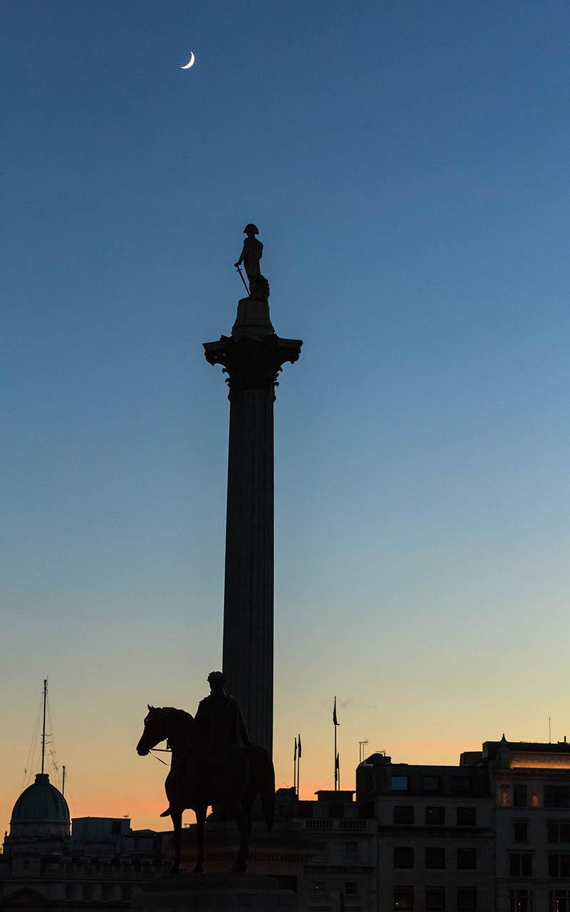 Estatua del almirante Nelson en Trafalgar Square