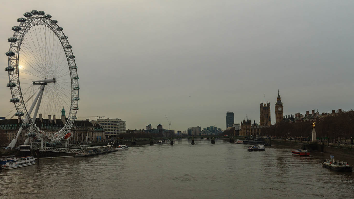 Panorámica con el London Eye y el Big Ben