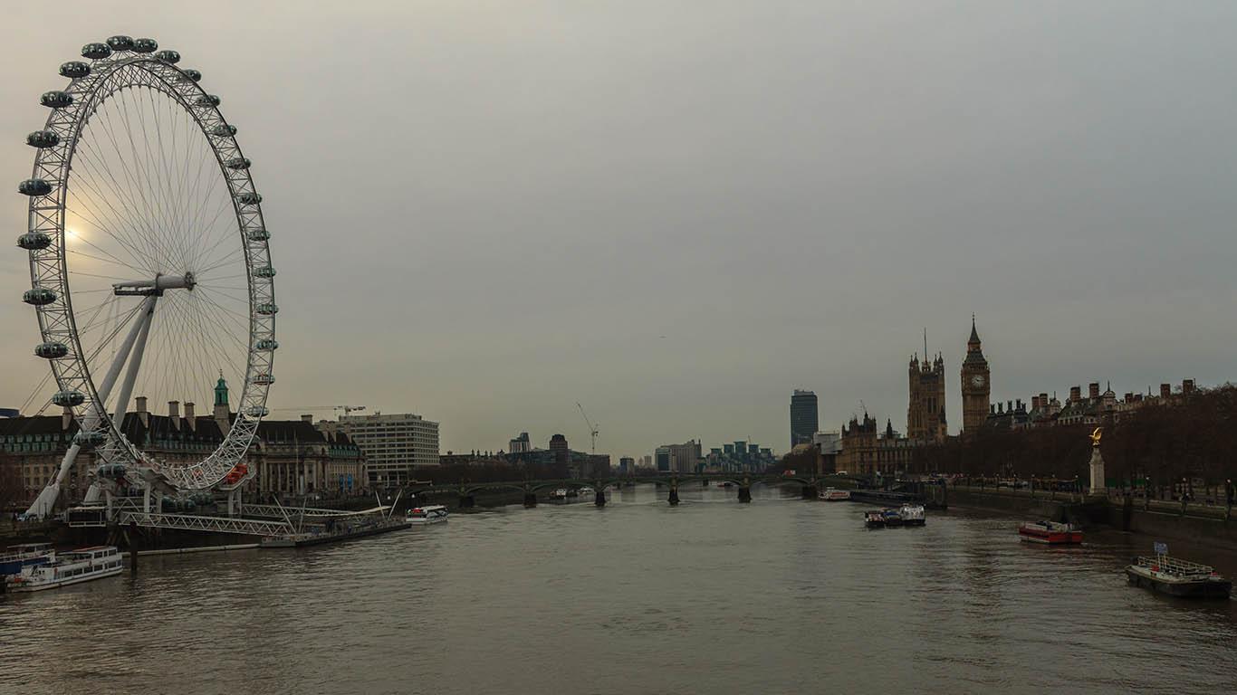 Panorámica con el London Eye y el Big Ben