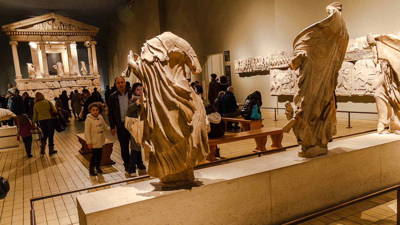 Partenón griego en el British Museum