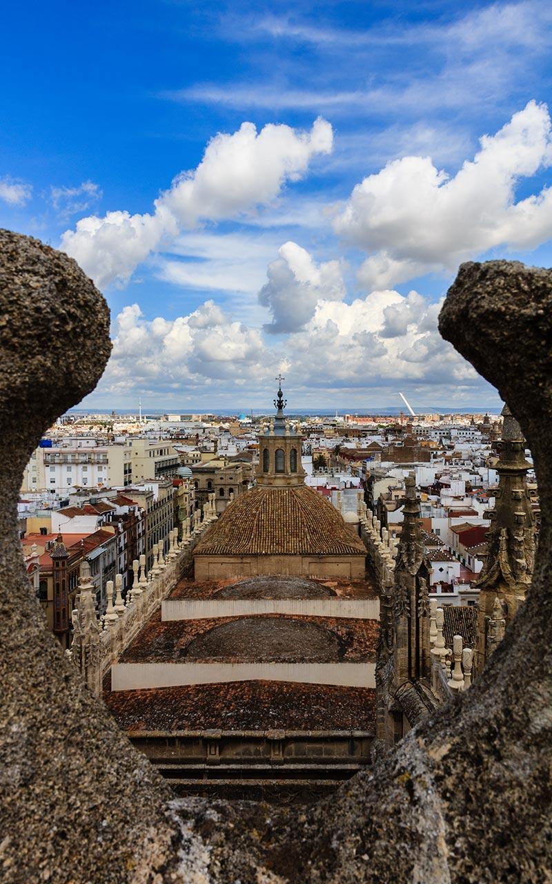 La ciudad enmarcada. Catedral de Sevilla, 2012 ©Flivillegas