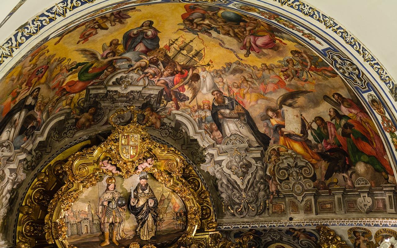 Detalle de la capilla