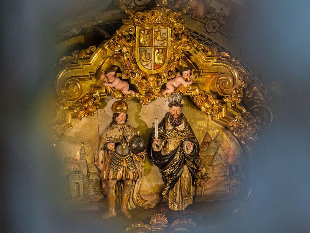 Detalle del retablo de la Capilla de la Virgen del Buen Aire