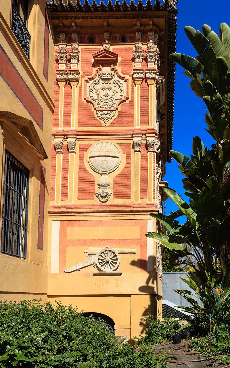 Fachada al jardín de San Telmo