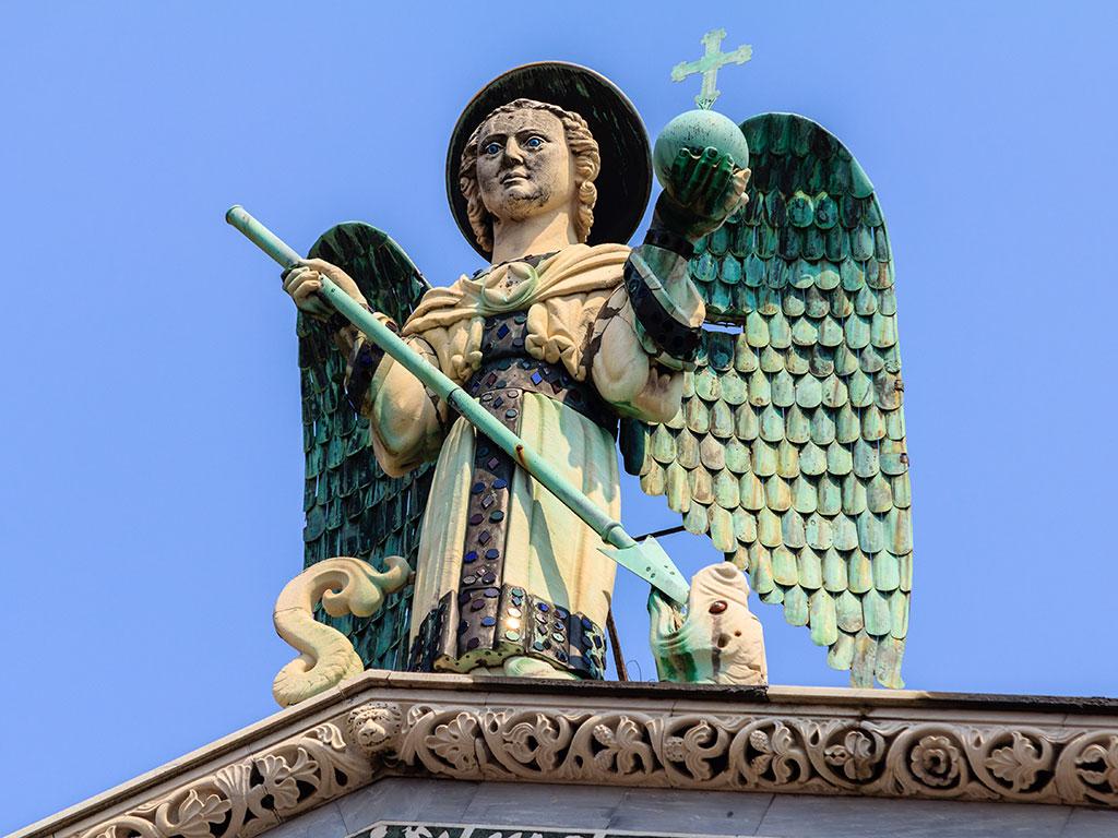 Arcángel. San Michele in Foro, Lucca, 2015 ©Flivillegas