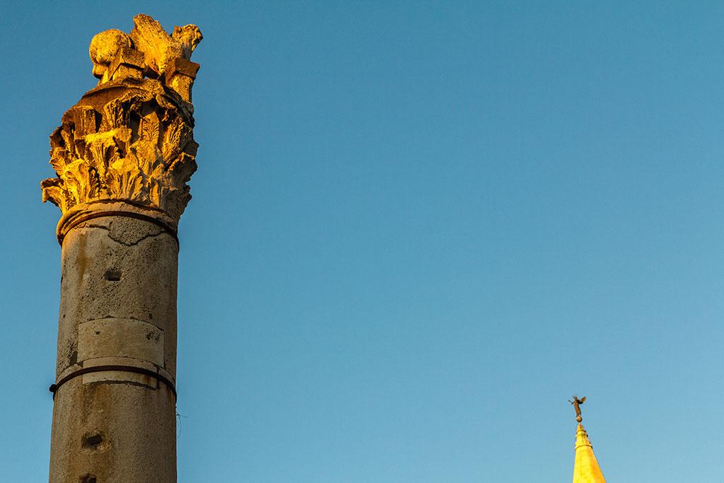 Atardecer dorado en Zadar. ©Flivillegas