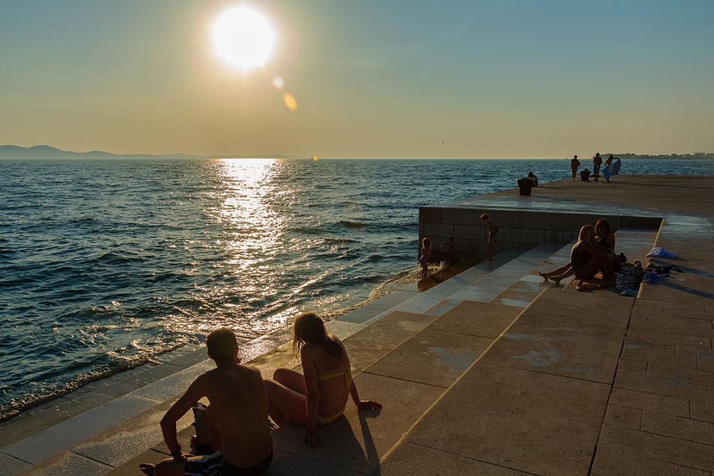 Atardecer en Zadar. Órgano del mar. 2012 ©Flivillegas